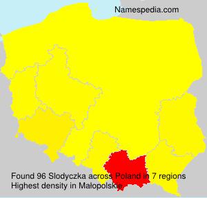 Surname Slodyczka in Poland