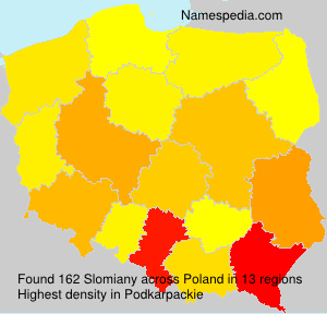 Surname Slomiany in Poland