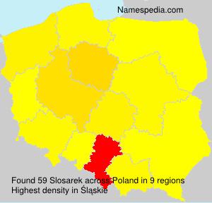 Familiennamen Slosarek - Poland