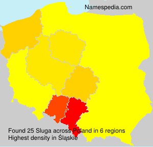 Surname Sluga in Poland