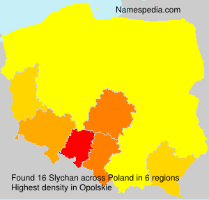 Surname Slychan in Poland
