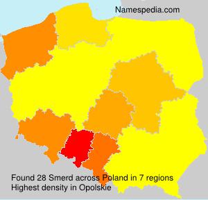 Surname Smerd in Poland