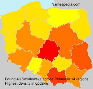 Surname Smialowska in Poland