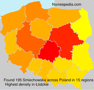 Surname Smiechowska in Poland