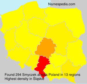 Familiennamen Smyczek - Poland