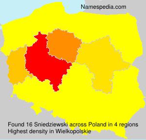 Familiennamen Sniedziewski - Poland