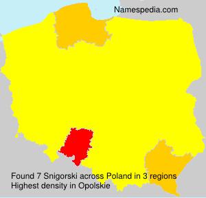 Surname Snigorski in Poland
