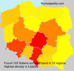 Surname Sobera in Poland