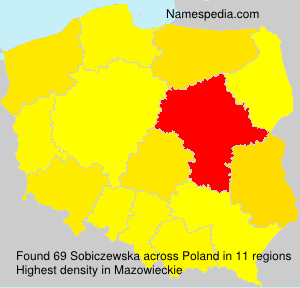 Familiennamen Sobiczewska - Poland