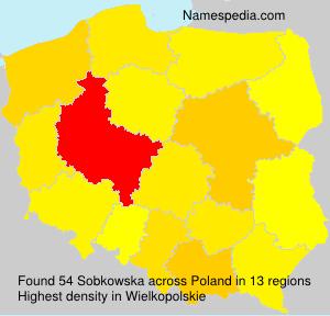Surname Sobkowska in Poland