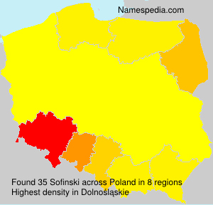 Surname Sofinski in Poland
