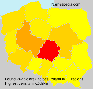 Surname Solarek in Poland