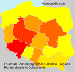 Surname Sonnenberg in Poland