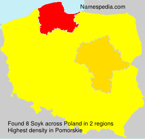 Surname Soyk in Poland