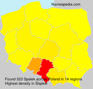 Surname Spalek in Poland