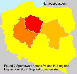 Surname Sperkowski in Poland