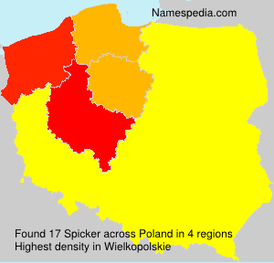 Surname Spicker in Poland