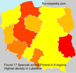 Surname Spierzak in Poland
