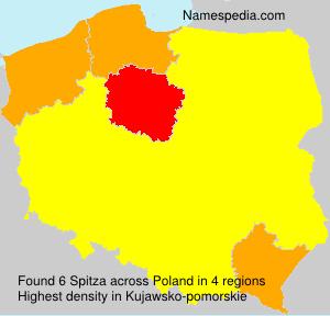 Surname Spitza in Poland