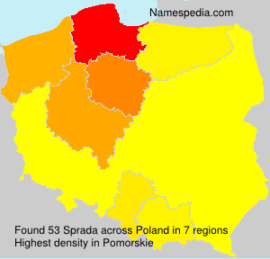 Surname Sprada in Poland