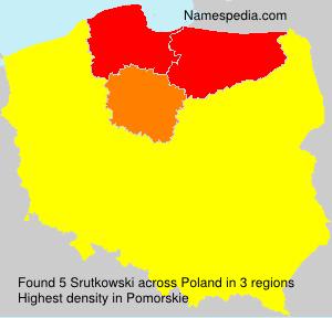 Surname Srutkowski in Poland