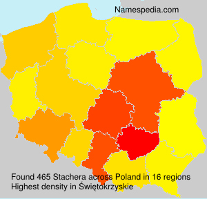 Familiennamen Stachera - Poland