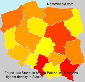 Surname Stachula in Poland