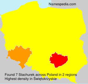 Surname Stachurek in Poland