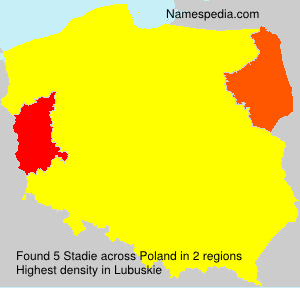 Surname Stadie in Poland