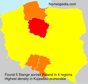 Surname Stange in Poland