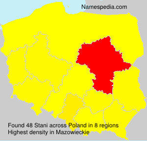 Surname Stani in Poland