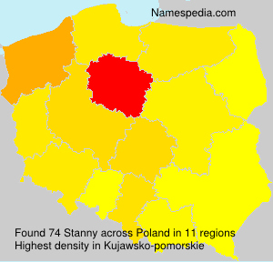 Surname Stanny in Poland