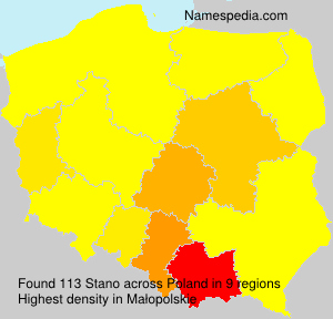 Surname Stano in Poland