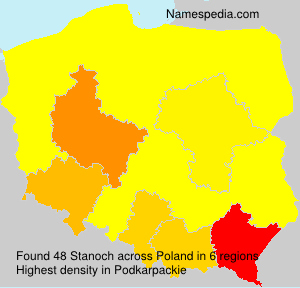 Surname Stanoch in Poland
