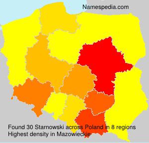 Surname Starnowski in Poland
