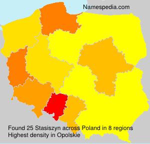 Surname Stasiszyn in Poland