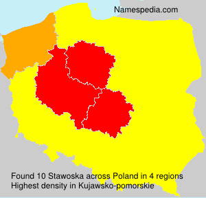 Surname Stawoska in Poland