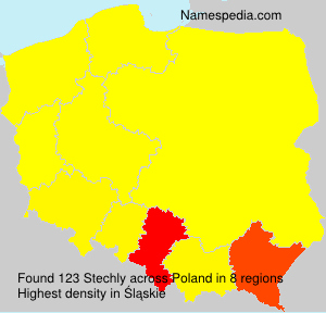 Surname Stechly in Poland