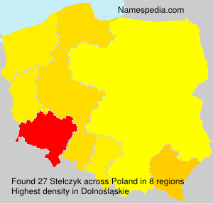 Surname Stelczyk in Poland