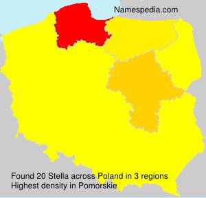 Surname Stella in Poland