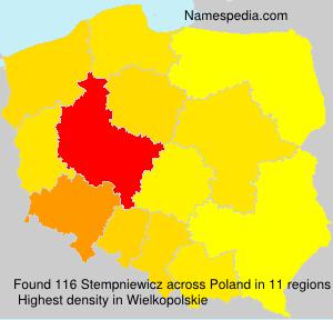Surname Stempniewicz in Poland