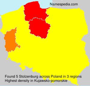 Familiennamen Stolzenburg - Poland