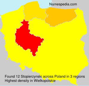 Surname Stopierzynski in Poland