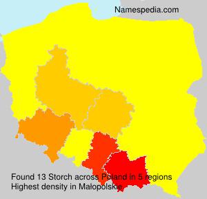 Familiennamen Storch - Poland