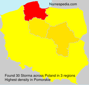 Surname Storma in Poland