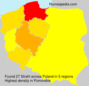 Surname Strahl in Poland