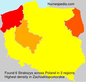 Familiennamen Strakszys - Poland