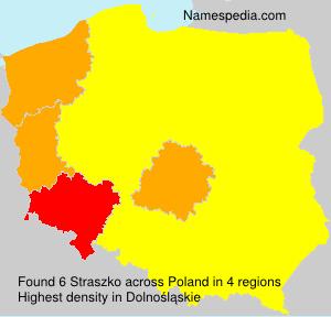 Surname Straszko in Poland