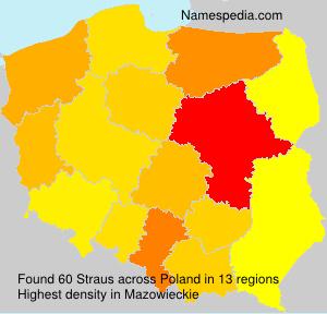 Familiennamen Straus - Poland