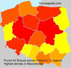 Surname Strauss in Poland